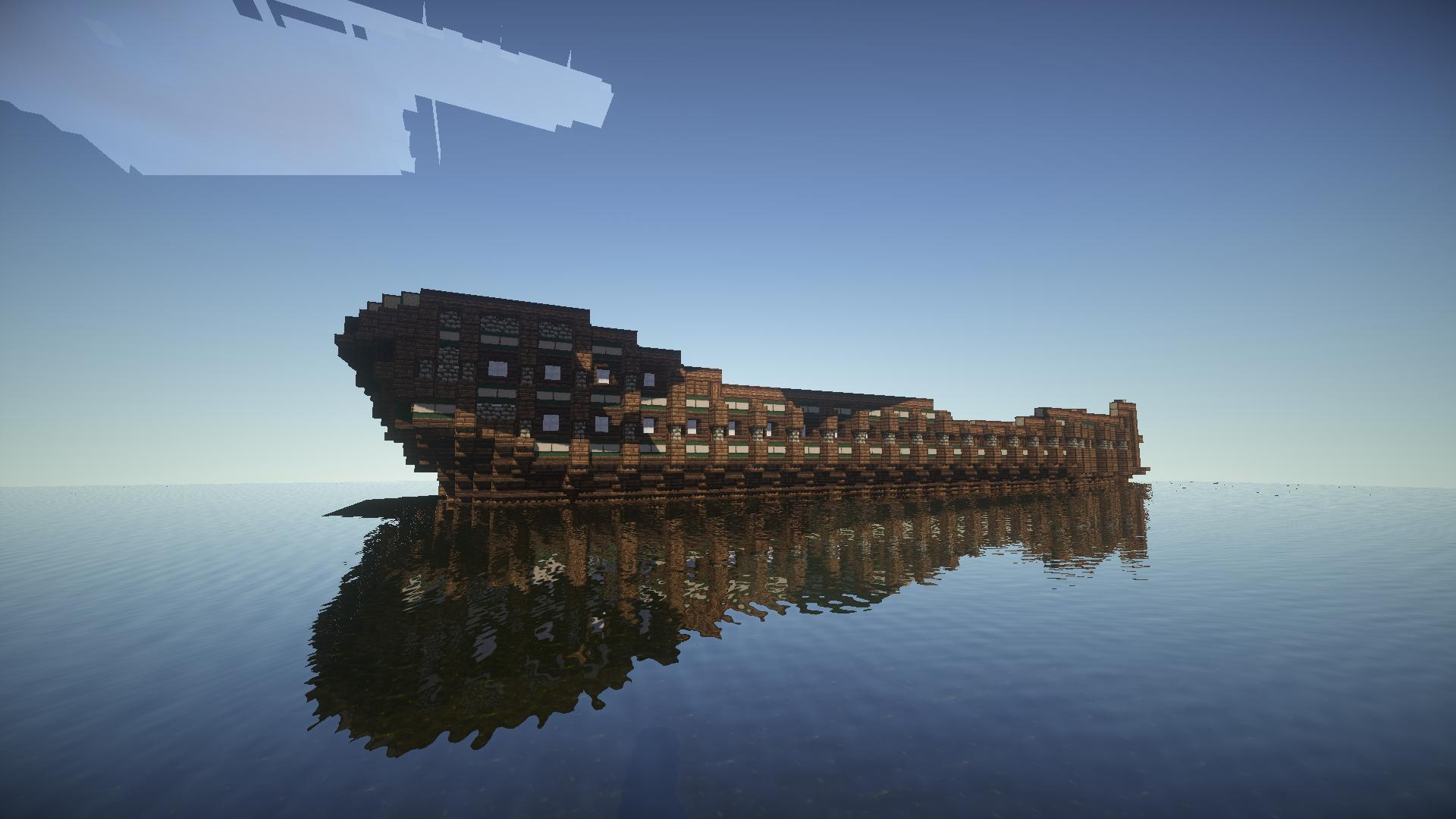 Minecraft How To Build Shipwreck