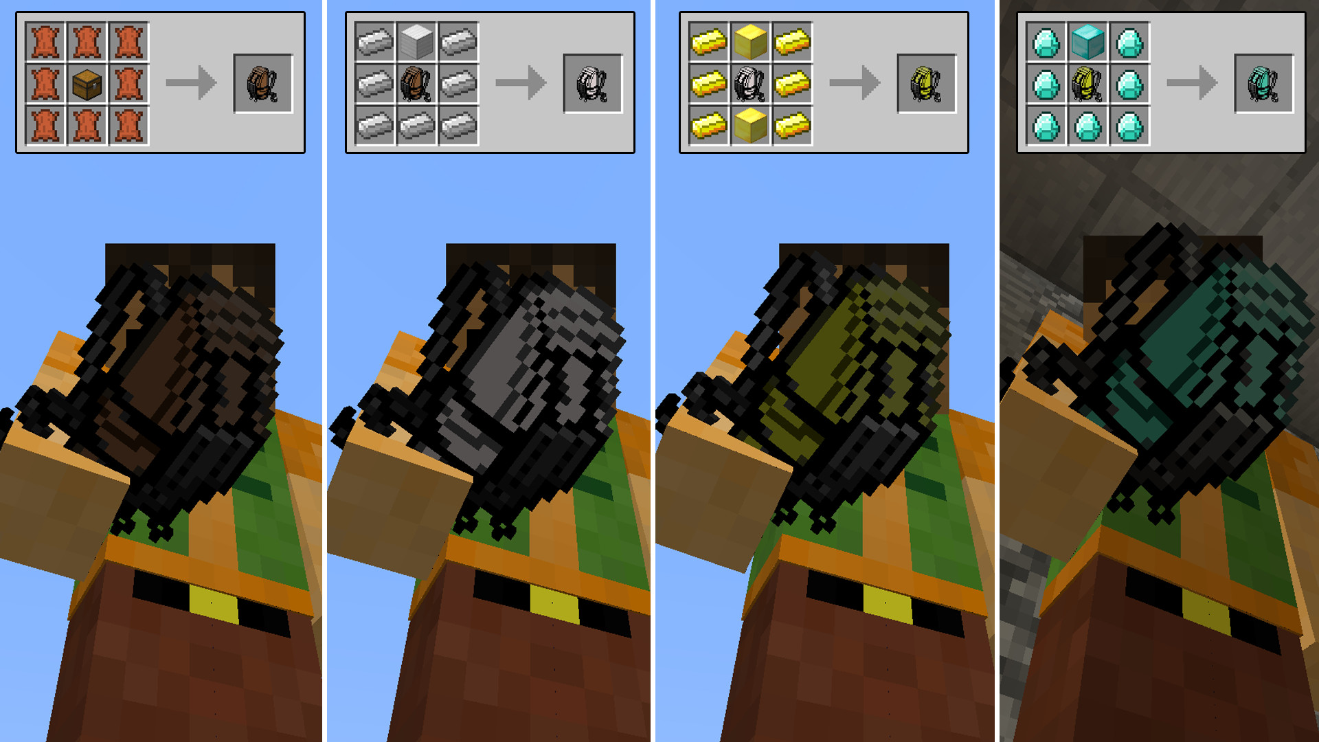 Crafting Upgrade Iron Backpacks