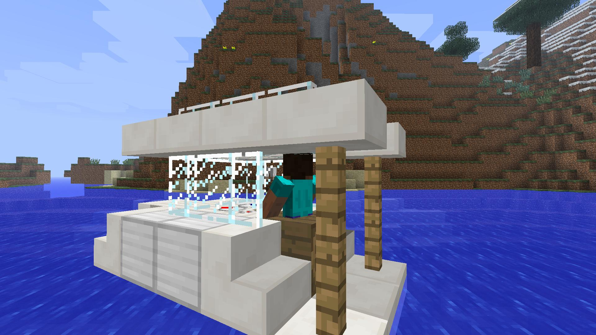 how to build a simple flying machine in minecraft