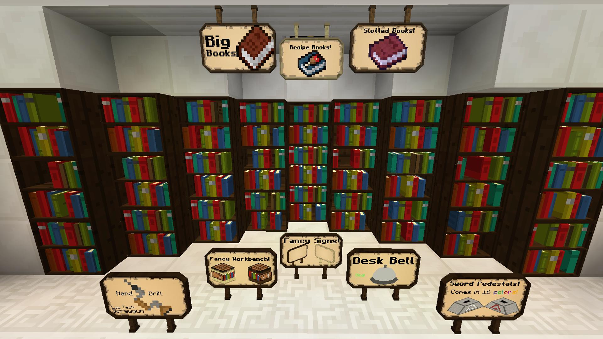 скачать мод на майнкрафт bibliocraft