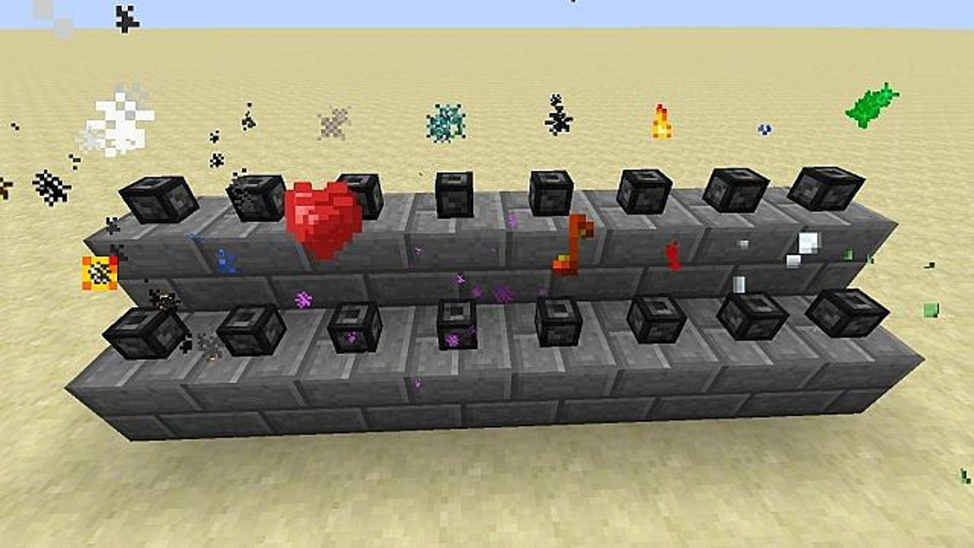 all particles in minecraft